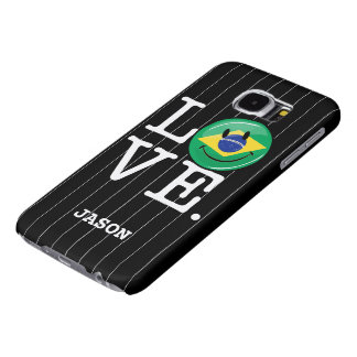Love from Brazil Smiling Face Samsung Galaxy S6 Case