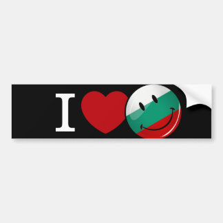Love From Bulgaria Smiling Flag Bumper Sticker