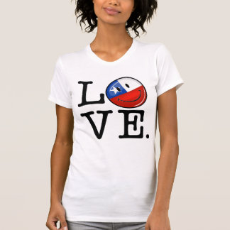 Love From Chile Smiling Chilean Flag T-Shirt