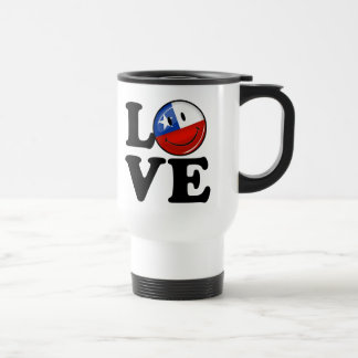 Love From Chile Smiling Chilean Flag Travel Mug