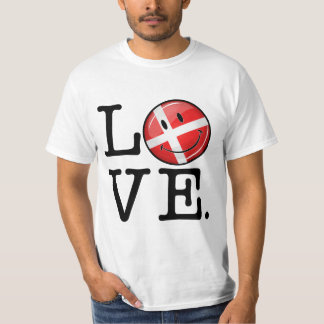 Love From Denmark Smiling Flag T-Shirt