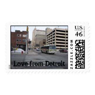 Love from Detroit Postage Stamps