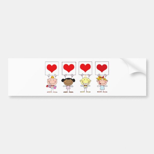 Love from Different Nationalities Car Bumper Sticker