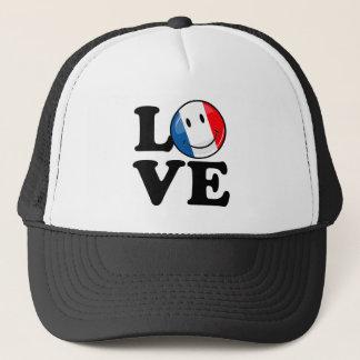 Love From France Smiling Flag Trucker Hat