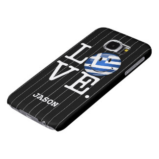 Love From Greece Smiling Flag Samsung Galaxy S6 Case