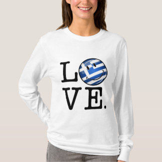 Love From Greece Smiling Flag T-Shirt