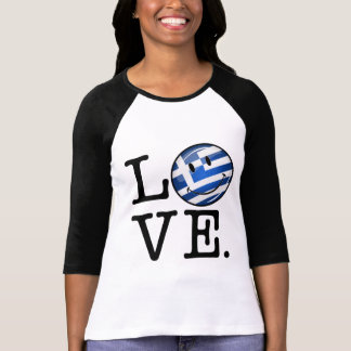 Love From Greece Smiling Greek Flag T-Shirt
