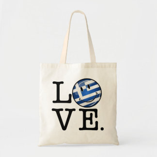 Love From Greece Smiling Greek Flag Tote Bag