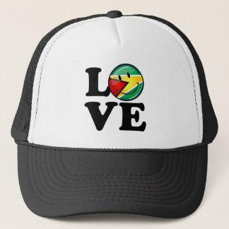 Love From Guyana Smiling Guyanese Flag Trucker Hat