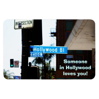 LOVE FROM HOLLYWOOD postcard Rectangular Photo Magnet