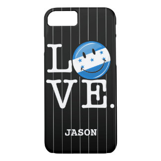 Love From Honduras Smiling flag iPhone 7 Case