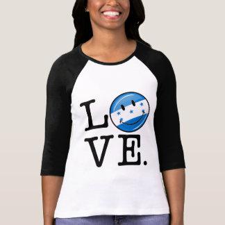 Love From Honduras Smiling flag Tee Shirt