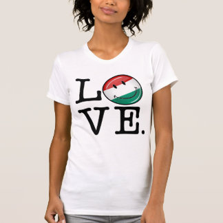 Love From Hungary Smiling Flag Tee Shirt