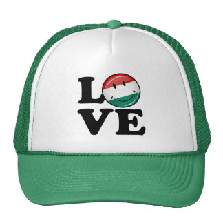 Love From Hungary Smiling Flag Trucker Hat