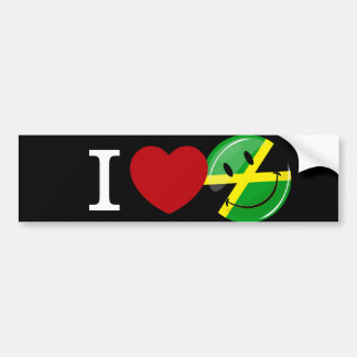Love from Jamaica Smiling Flag Bumper Sticker