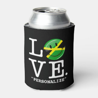 Love From Jamaica Smiling Flag Can Cooler