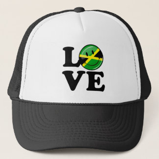 Love From Jamaica Smiling Flag Trucker Hat