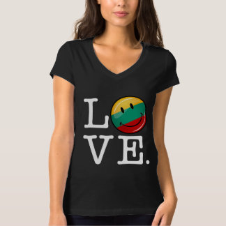 Love From Lithuania Smiling Flag T-Shirt