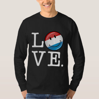 Love From Luxembourg Smiling Flag T-Shirt
