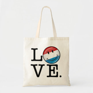 Love From Luxembourg Smiling Flag Tote Bag