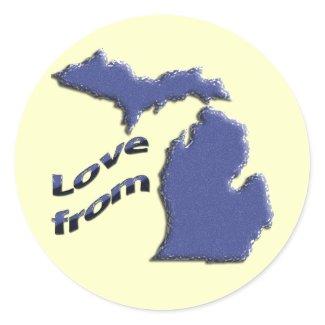 Love from MI sticker