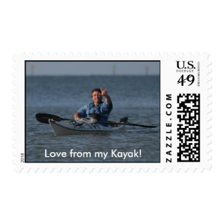 Love from my Kayak! Postage Stamp