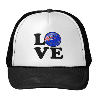 Love From New Zealand Smiling Flag Trucker Hat