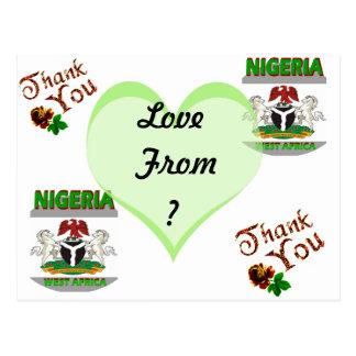 LOVE FROM NIGERIA (Mojisola A Gbadamosi Okubule ) Postcard