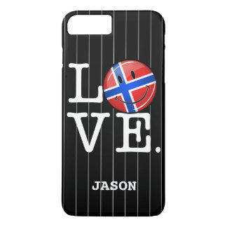 Love From Norway Smiling Flag iPhone 7 Plus Case