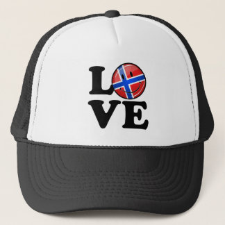 Love From Norway Smiling Flag Trucker Hat