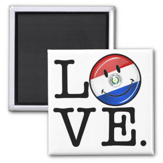 Love From Paraguay Smiling Flag Magnet