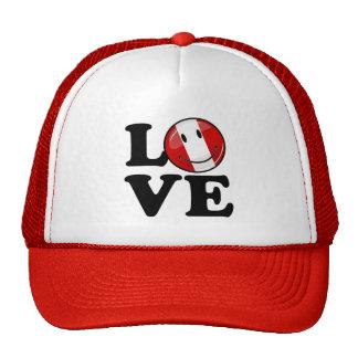 Love From Peru Smiling Peruvian Flag Trucker Hat