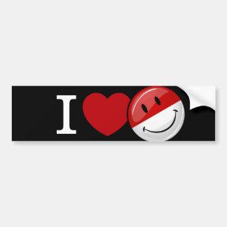 Love From Poland Smiling Flag Car Bumper Sticker