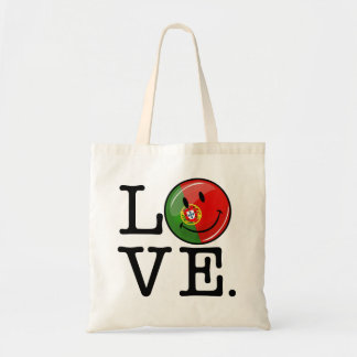 Love From Portugal Smiling Flag Budget Tote Bag