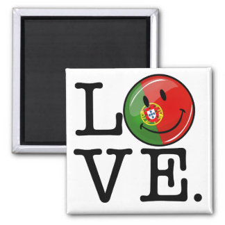 Love From Portugal Smiling Flag Magnet