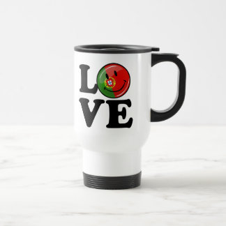 Love From Portugal Smiling Flag Travel Mug