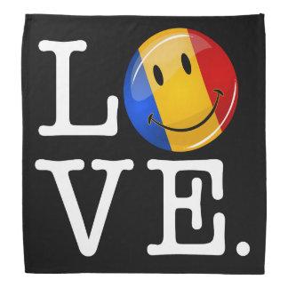 Love From Romania Smiling Flag Bandana