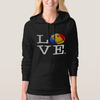 Love From Romania Smiling Flag Hoodie