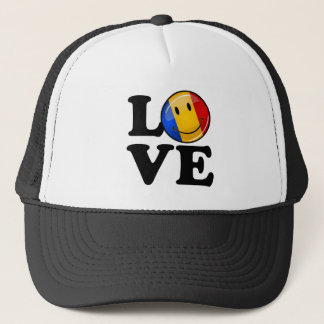 Love From Romania Smiling Flag Trucker Hat
