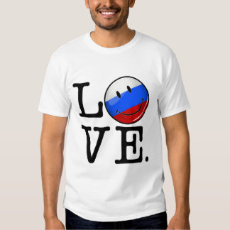 Love From Russia Smiling Flag T Shirt