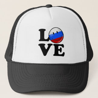 Love From Russia Smiling Flag Trucker Hat