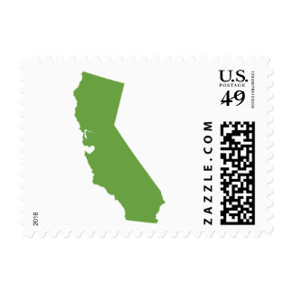 Love from San Francisco, CA in Green Postage Stamp