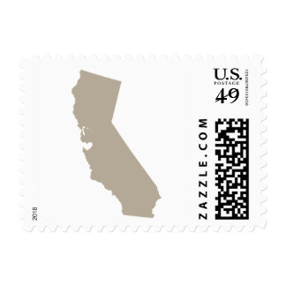 Love from San Francisco, CA in Greige Postage Stamp
