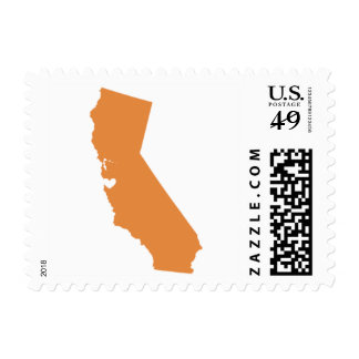 Love from San Francisco, CA in Pumpkin Postage Stamp