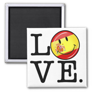 Love From Spain Smiling Flag Magnet