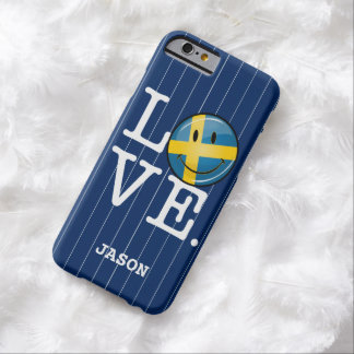 Love From Sweden Smiling Flag Barely There iPhone 6 Case