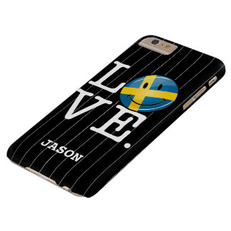 Love From Sweden Smiling Flag Barely There iPhone 6 Plus Case