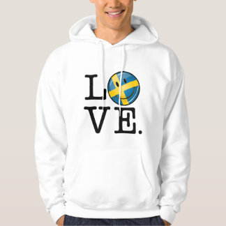 Love From Sweden Smiling Flag Hoodie