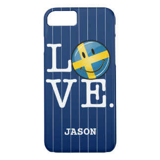 Love From Sweden Smiling Flag iPhone 8/7 Case