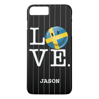 Love From Sweden Smiling Flag iPhone 8 Plus/7 Plus Case